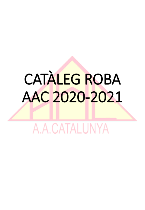 Catàleg roba AAC